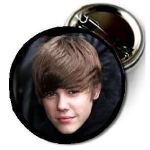 Justin Bieber image pin 1.5 High Quality Pin back Button