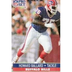 HOWARD BALLARD, Tackle, Buffalo Bills, Jersey #75, Card #73, NFL Pro
