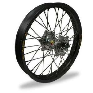MX Rear Wheel   Black Rim/Silver Hub , Color Black 24 11012 HUB/RIM