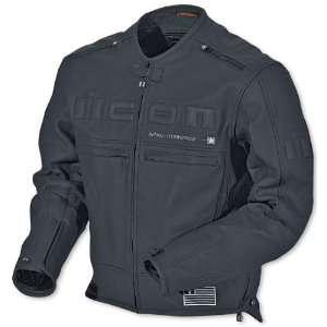 Leather Motorcycle Jacket Black/Black XXL 2XL 1533 30 06 Automotive