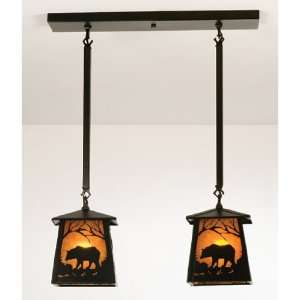 15744 Black Rustic / Country Two Light Multi Light Pendant 15744 Home