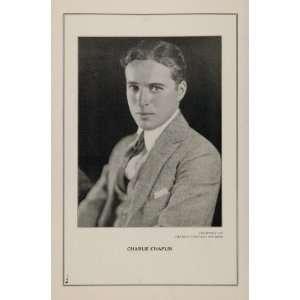 1927 Silent Film Star Charlie Chaplin Studios Print   Original Print