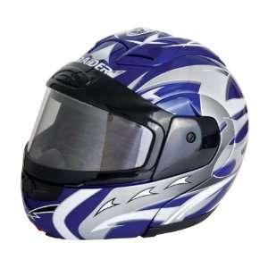 Raider Blue Small Dual Lens Modular Helmet Automotive