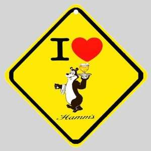 I Love Hamms Beer Logo Car Window Sign: Everything Else
