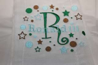 Baby Burp Cloth Personalized Embroidered #011