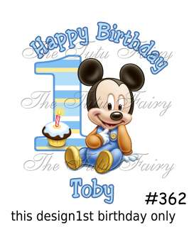 Baby Mickey Mouse 1st first birthday shirt t shirt baby onezee