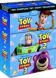 TOY STORY TRILOGY 3 MOVIE COLLECTION BLU RAY BOX SET REGION FREE BRAND