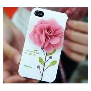3D Flower Design Tree Hard Case(Pink Rose Flower) Cell Phones