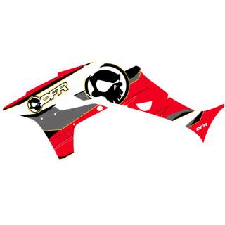 DFR 08 RACE GRAPHIC KIT RED TRX450R TRX 450 GRAPHICS