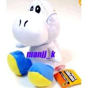 Super Mario WHITE Yoshi Plush Doll 6