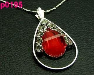 1pcs Crystal Gutta Charm pendant necklace p0195