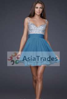 Chic Lady Party Evening Bridesmaid Cocktail Prom Ball Dress Custom