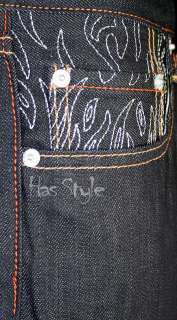 Ed Hardy Mens Jeans Tiger Silver Pocket Raw 30