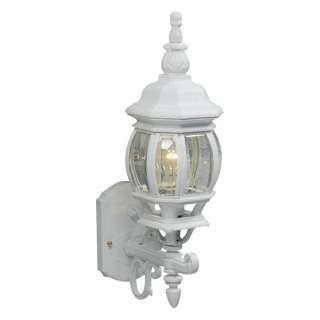 Light Small Outdoor Wall Lantern Lighting Fixture, White, 25 Year