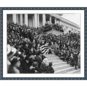 World War I. View of central steps of Capitol, where movie stars are