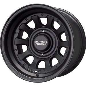 Black Rock Type D Alloy 909 Matte Black Wheel (15x10