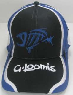 LOOMIS 3D BONE FISH RACING BLUE HAT / CAP 55981 01