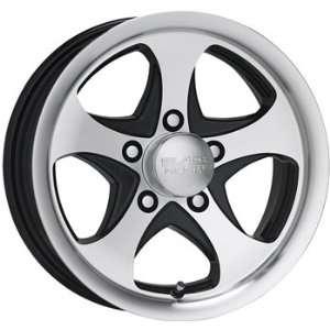 Black Rock Intrepid Trailer 14x5.5 Machined Black Wheel / Rim 5x4