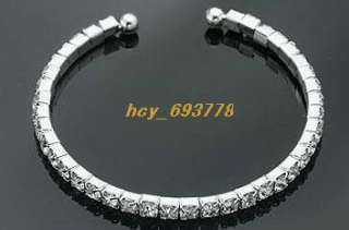 Wholesale 12 pc s 1Row Bridal/Party Crystal Rhinestone Bracelets