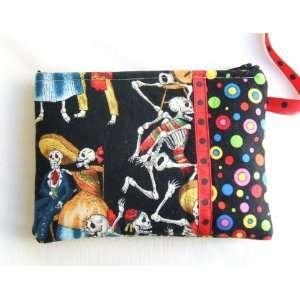 New Dia De Los Muertos Cosmetic Bag Pouch Beauty