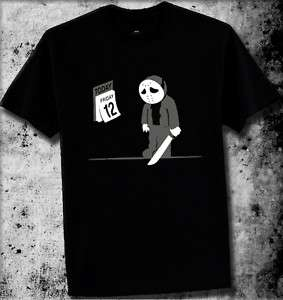 FRIDAY THE 12TH T SHIRT COMEDY SHIRTS FUNNY RUDE JASON
