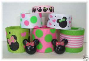 12Y+ RESINS TROPICAL MINNIE MOUSE GROSGRAIN RIBBON MIX
