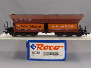 DTD TRAINS   HO SCALE   ROCO 46250 COAL HOPPER CAR   DB   MODEL TRAIN