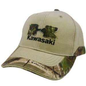 KAWASAKI MOTORCYCLES MOTORS REALTREE APG HIGH DEF CAMO KHAKI LICENSED