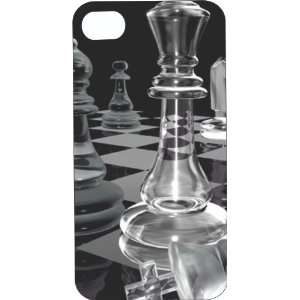 Clear Hard Plastic Case Custom Designed Clear Queen Chess Piece iPhone