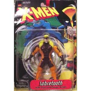 X MEN Sabretooth Action Figure With Snarl And Swipe Action