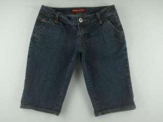 Guess Dark Wash Stretch Denim Blue Jeans Walking Shorts Womens Sz 27
