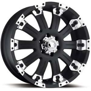 Ultra Mammouth 17x8 Black Wheel / Rim 6x135 with a 25mm Offset and a