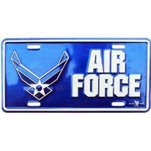 License Plate   US Air Force Military Wings & Star Crest Logo w/ Name
