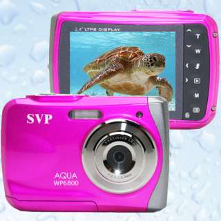 SVP Underwater 18MP Max. Pink Digital Camera + Camcorder *WaterProof