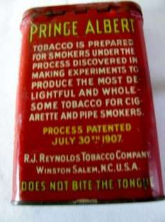 PRINCE ALBERT TOBACCO POCKET TIN Crimp Cut 1926