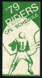 1979 SASKATCHEWAN ROUGHRIDERS CANADIAN FOOTBALL LEAGUE SCHEDULE