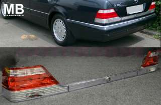 Mercedes Benz W140 Tail Light 95 99 Red Chrome Clear OEM Style