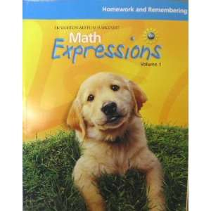 Expressions (Math Expressions 2009   2012) (9780547066660) Hmh Books
