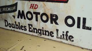 VINTAGE PETROL STATIONS CALTEX RPM MOTOR OIL PORCELAIN SIGN HUGE LIFE