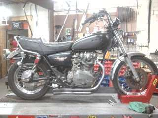 Custom Turnout Yamaha Special XS650 exhaust pipes