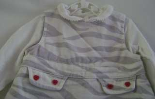 Gymboree 6m Baby Girls Zebra Print Jumper Dress