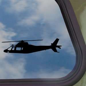 Agusta A109 Helicopter Black Decal Truck Window Sticker