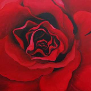 ORIGINAL Still Life Painting CES Red ROSE Valentines GIFT Flowers EBSQ
