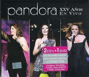 Pandora   XXV Años   En Vivo   2 CDs + DVD   Kalimba, Flans, Gian