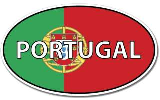 Portugal Oval Euro Flag Wall Window Car Vinyl Sticker Decal Mural