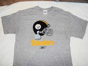 PITTSBURGH STEELERS Helmet Super Bowl XLV Logo NFL Grey Reebok T Shirt