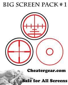 Crosshair Aim Reticle COD Big Screen Decal Target Aim Cheat Xbox 360