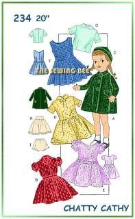 234 Doll wardrobe pattern 20 Chatty Cathy & Katie
