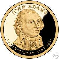 2007 P&D JOHN ADAMS PRESIDENT DOLLAR COINS US COINS