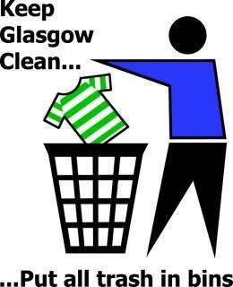 KEEP GLASGOW CLEAN funny football rangers t shirt S 6XL